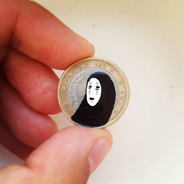 Tale you Lose pop culture characters painted on coins Andre Levy 10