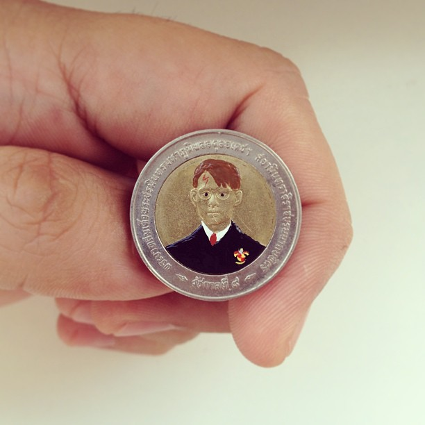 Tale you Lose pop culture characters painted on coins Andre Levy 12