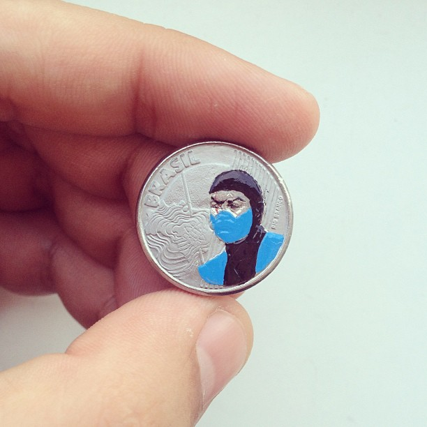 Tale you Lose pop culture characters painted on coins Andre Levy 15