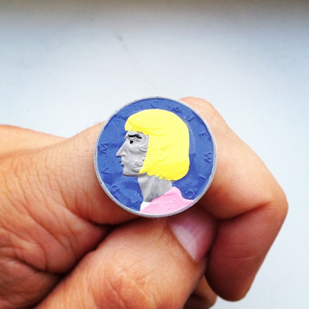 Tale you Lose pop culture characters painted on coins Andre Levy 16