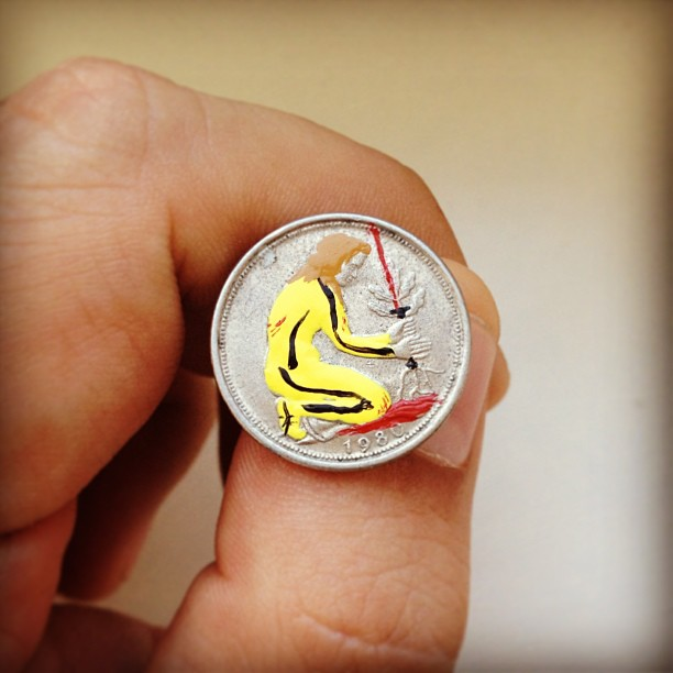 Tale you Lose pop culture characters painted on coins Andre Levy 17