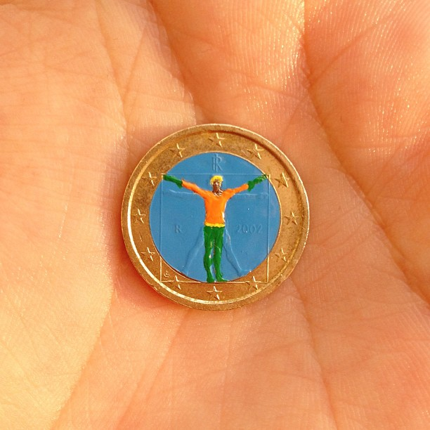 Tale you Lose pop culture characters painted on coins Andre Levy 21