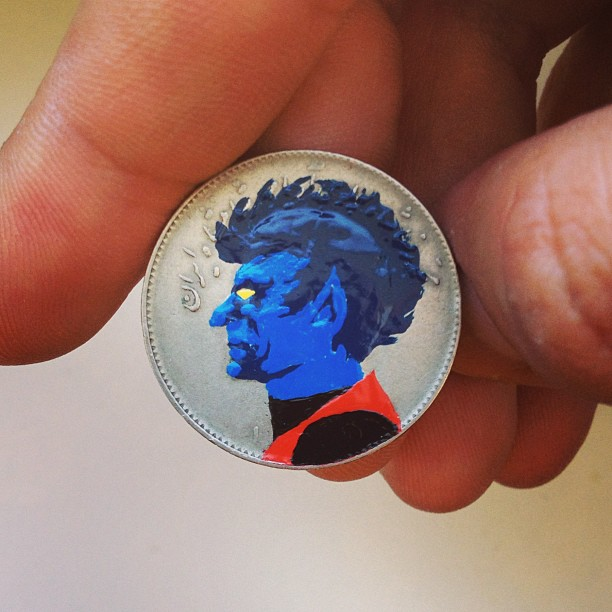 Tale you Lose pop culture characters painted on coins Andre Levy 23