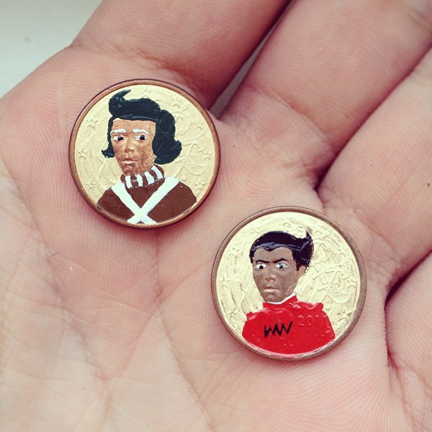 Tale you Lose pop culture characters painted on coins Andre Levy 24