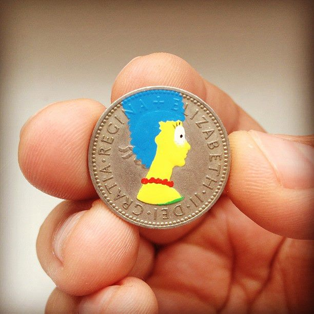 Tale you Lose pop culture characters painted on coins Andre Levy 26