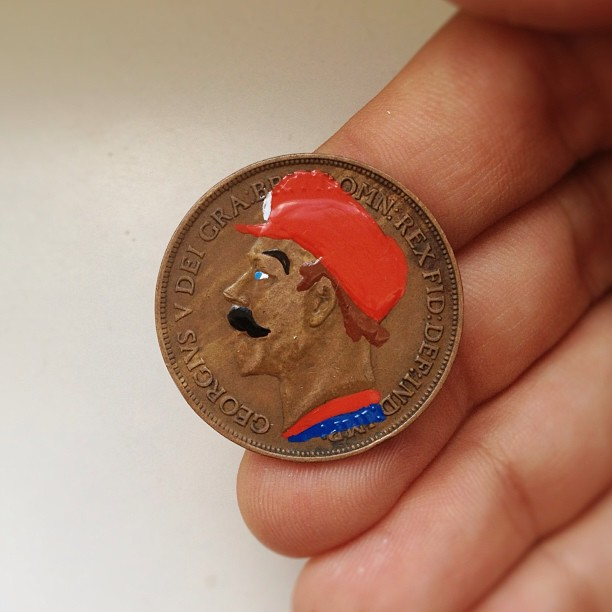 Tale you Lose pop culture characters painted on coins Andre Levy 28