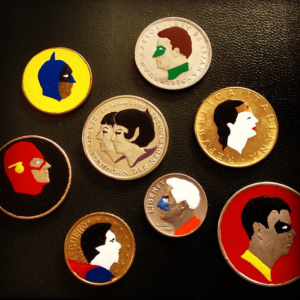 Tale you Lose pop culture characters painted on coins Andre Levy 34
