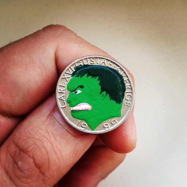 Tale you Lose pop culture characters painted on coins Andre Levy 4
