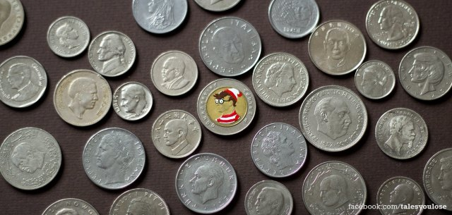 Tale you Lose pop culture characters painted on coins Andre Levy 41