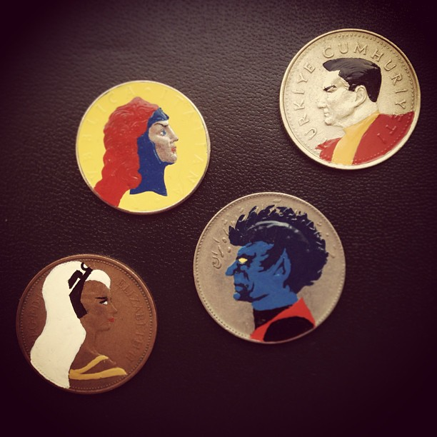 Tale you Lose pop culture characters painted on coins Andre Levy 5
