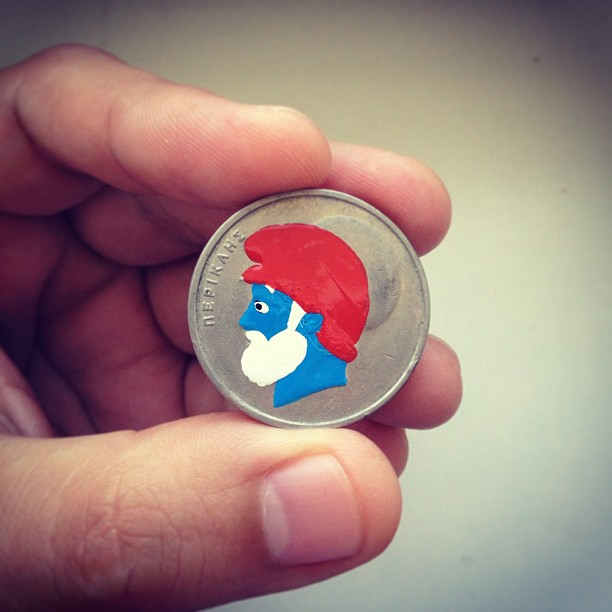Tale you Lose pop culture characters painted on coins Andre Levy 7