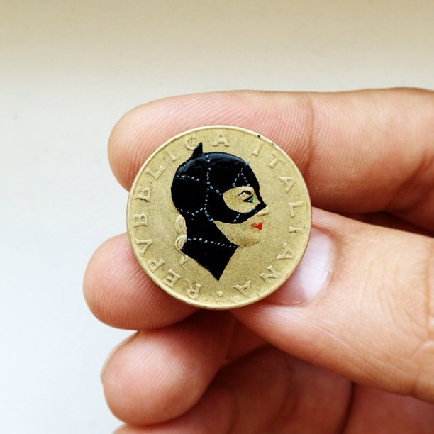 Tale you Lose pop culture characters painted on coins Andre Levy