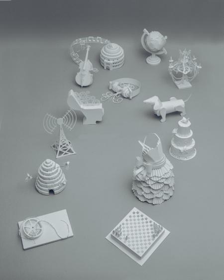 paper sculptures Mandy Smith brain 10