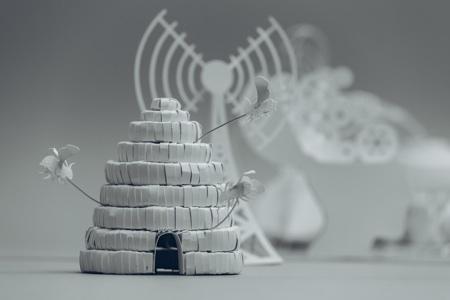 paper sculptures Mandy Smith brain 2
