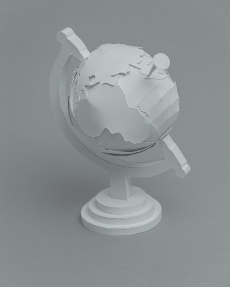 paper sculptures Mandy Smith brain 3 globe