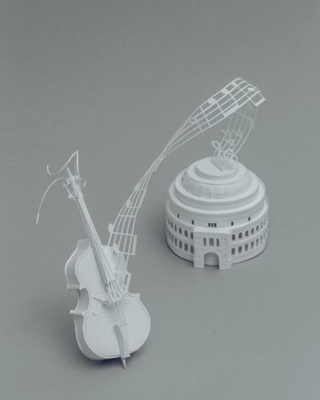 paper sculptures Mandy Smith brain 4