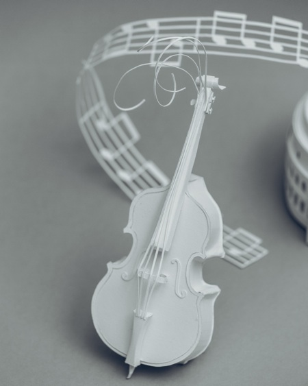 paper sculptures Mandy Smith brain 5