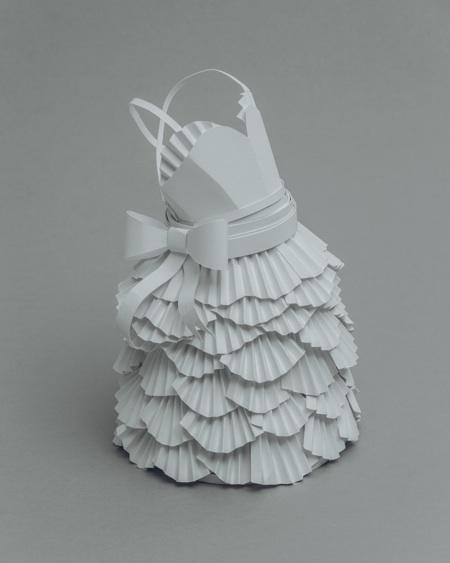 paper sculptures Mandy Smith brain 7