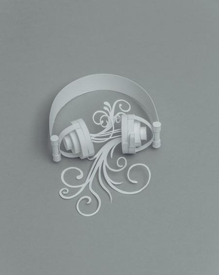 paper sculptures Mandy Smith brain 8