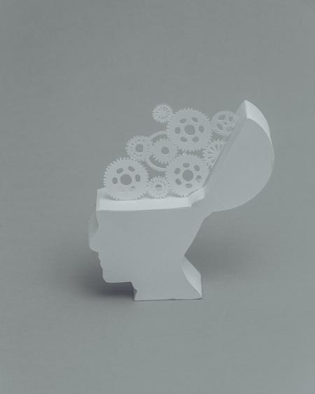 paper sculptures Mandy Smith brain