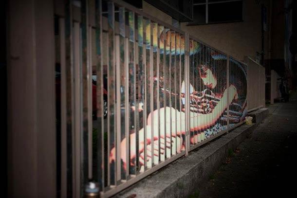 zebrating street art Anamorphic 15