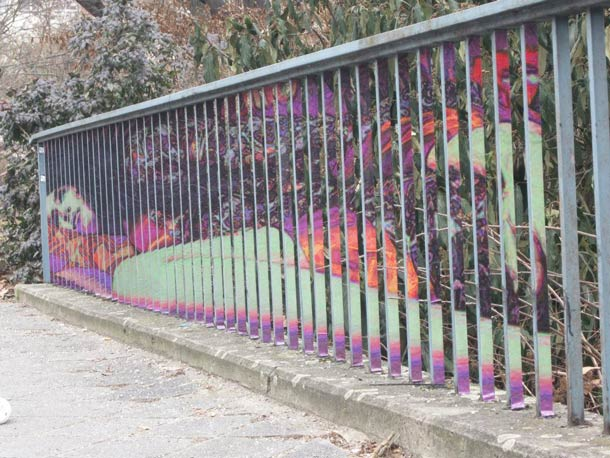 zebrating street art Anamorphic 3
