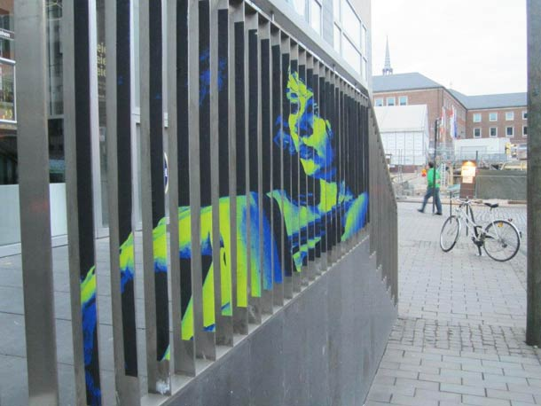 zebrating street art Anamorphic 7