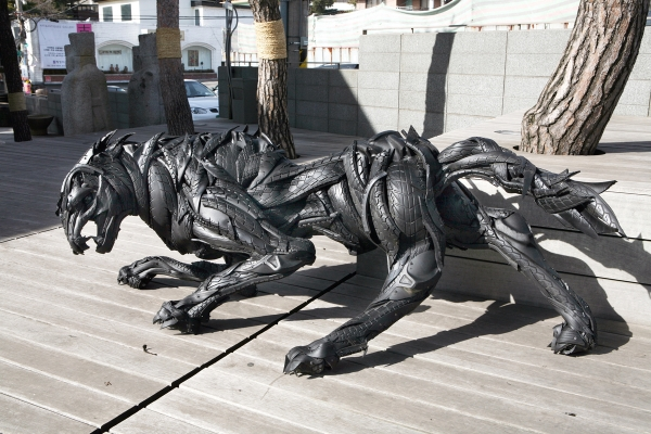 ji yong ho mutant mythos tire sculptures