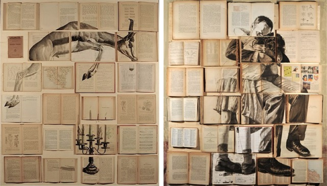 PAINTINGS ON BOOKS EKATERINA PANIKANOVA 4