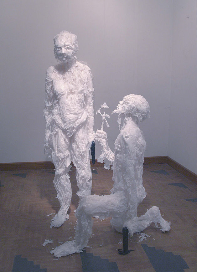 Plastic bag sculptures Khalil Chishtee 10