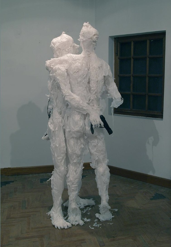 Plastic bag sculptures Khalil Chishtee 2
