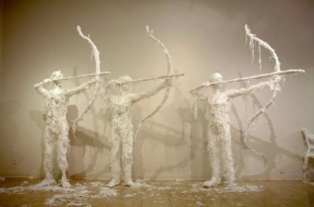 Plastic bag sculptures Khalil Chishtee 3