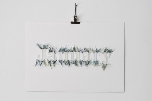 Stitched Typography Peter Crawley 11