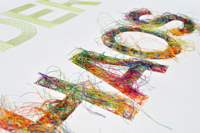 Stitched Typography Peter Crawley 8