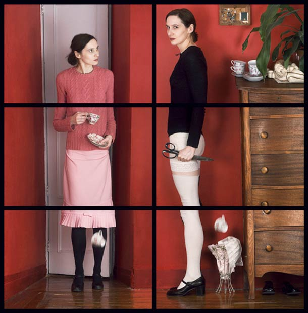 Doppelgänger Cornelia Hediger Fragmented self portraits 13