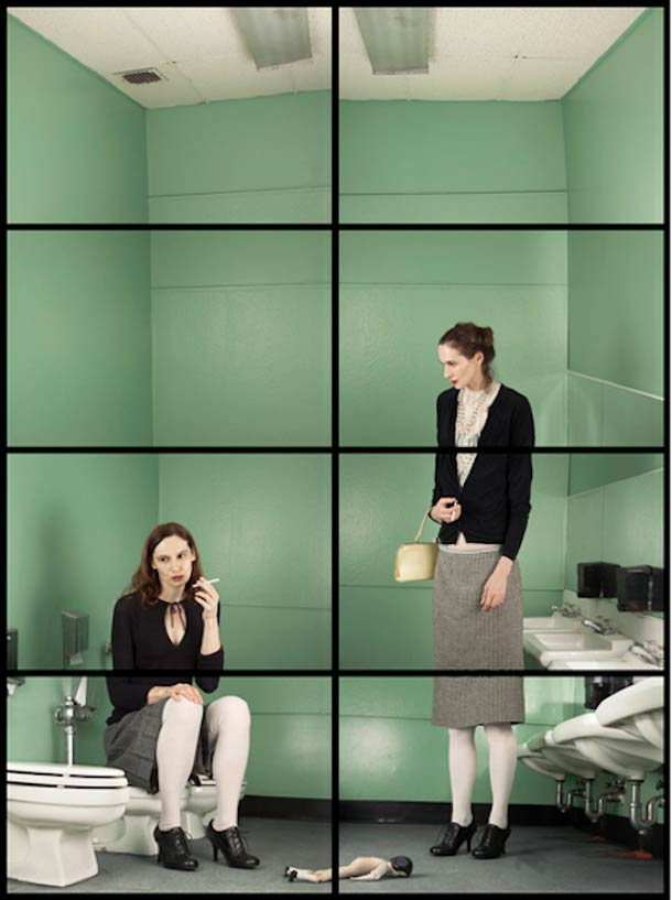 Doppelgänger Cornelia Hediger Fragmented self portraits 14
