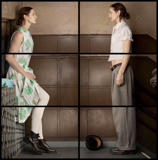 Doppelgänger Cornelia Hediger Fragmented self portraits 9