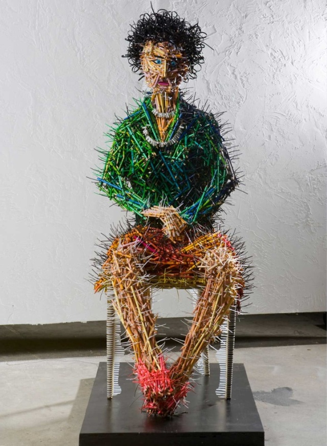 fascinating sculptures made out colored pencils federico uribe 6