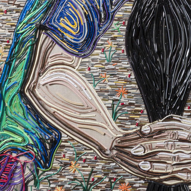 Federico Uribe Painting with Reused Electrical Cables 5