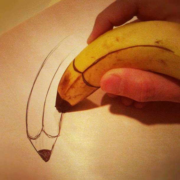 Jurgen Steenwelle banana doodles 11