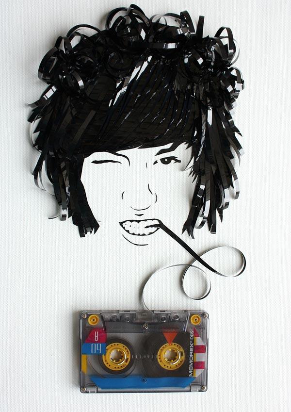 Cassette Tape Art Erika Iris Simmons 6