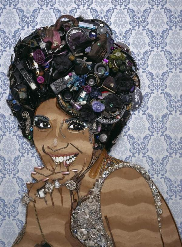 CELEBRITY TRASH ART BY JASON MECIER shirley bassey