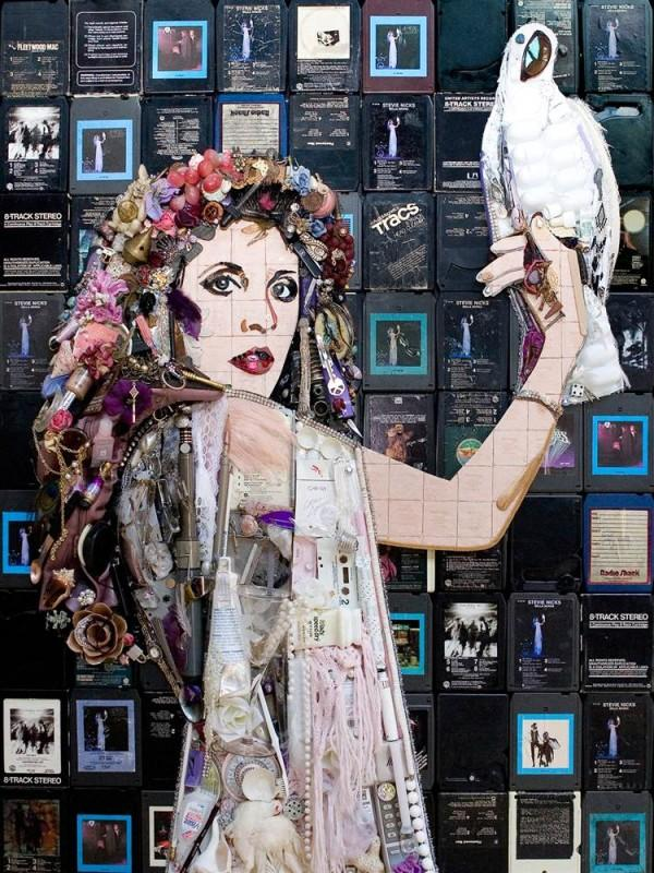 CELEBRITY TRASH ART BY JASON MECIER stevie nicks