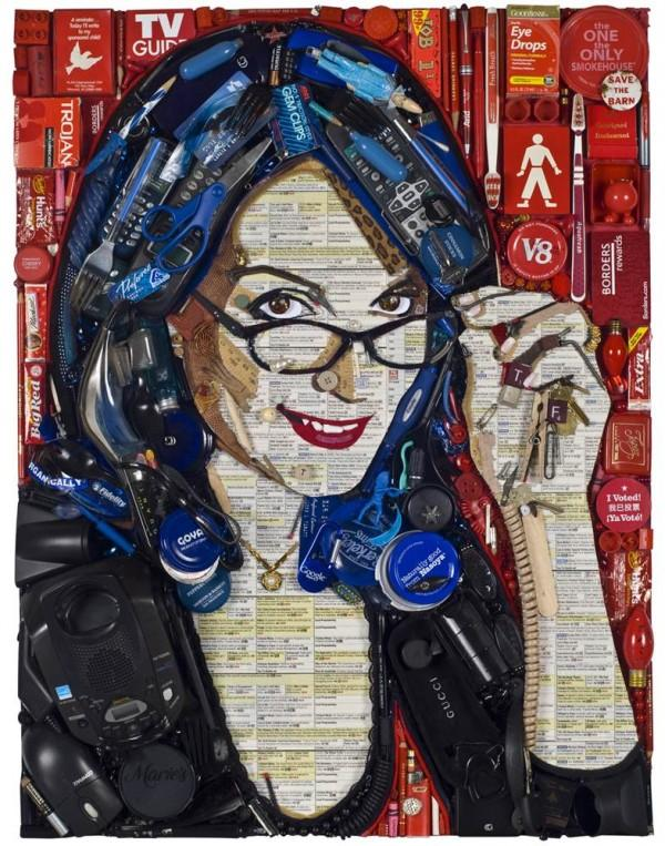 CELEBRITY TRASH ART BY JASON MECIER tina fey