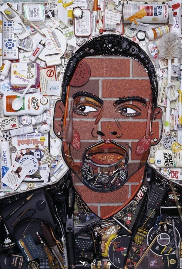 CELEBRITY TRASH ART JASON MECIER chris rock