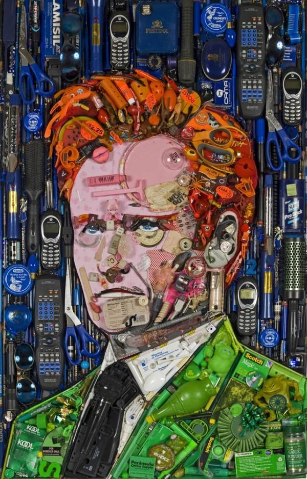 CELEBRITY TRASH ART JASON MECIER conan obrien