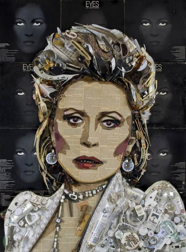 CELEBRITY TRASH ART JASON MECIER faye dunaway