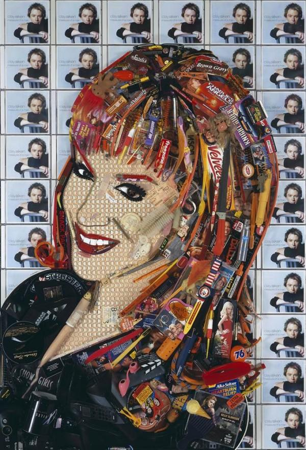 CELEBRITY TRASH ART JASON MECIER kathy griffin