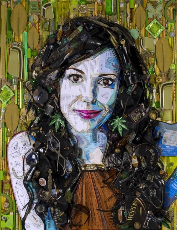 CELEBRITY TRASH ART JASON MECIER mary louise parker