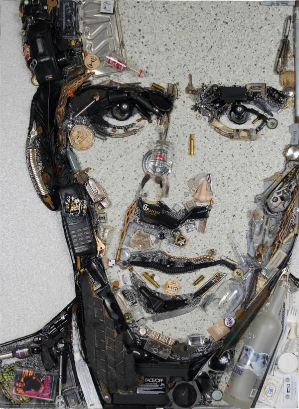 CELEBRITY TRASH ART JASON MECIER nicolas cage